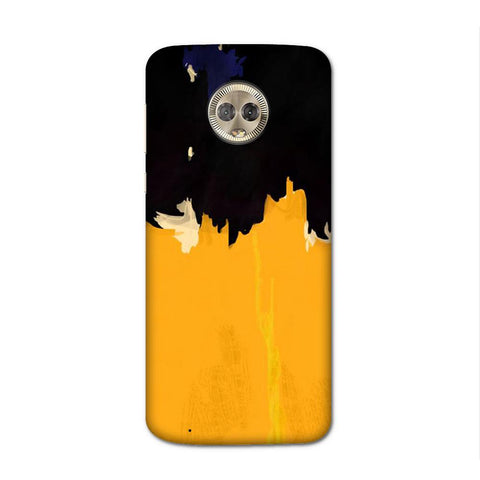Yellow On Black Case for Moto G6