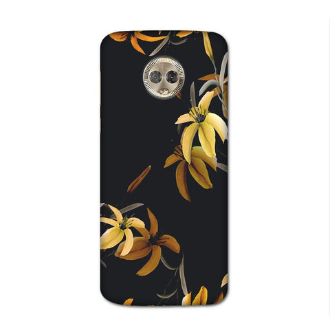 Yellow Flowers Case for Moto G6 Plus