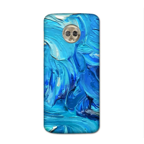 Blue Splash Case for Moto G6 Plus