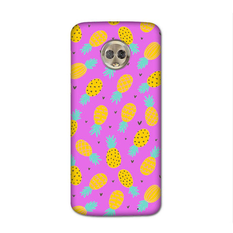 Tropical Pineapple Case for Moto G6 Plus