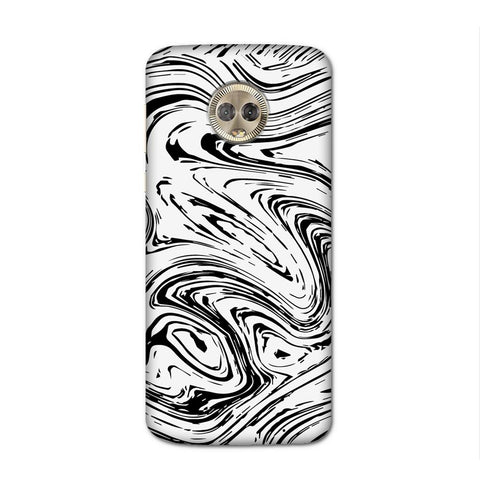 Black On White Case for Moto G6 Plus