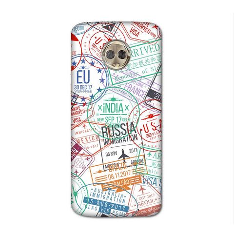 Visa Stamps Case for Moto G6 Plus