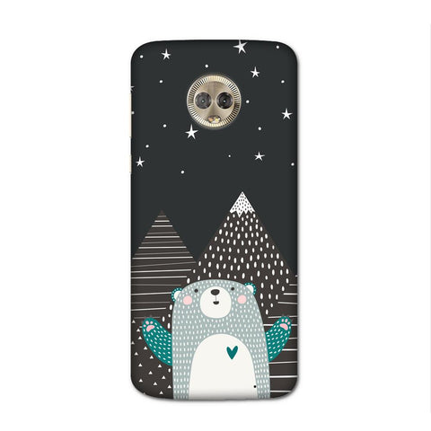 Bear Under The Stars Case for Moto G6 Plus