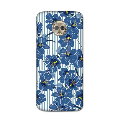 Blue Flowers Case for Moto G6 Plus