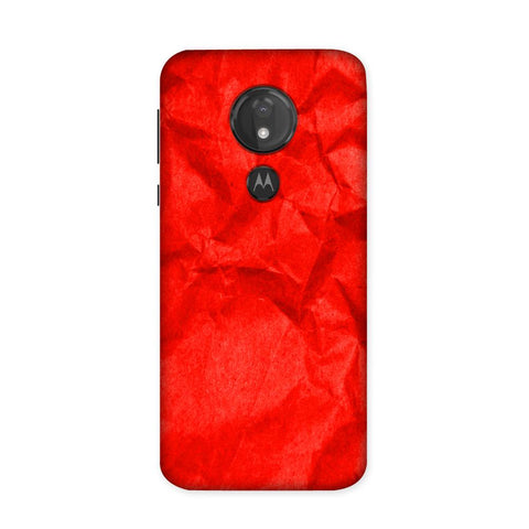 Crumpled Red Case for Moto G7 Power