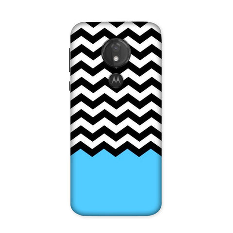 Black & White Chevron Case for Moto G7 Power