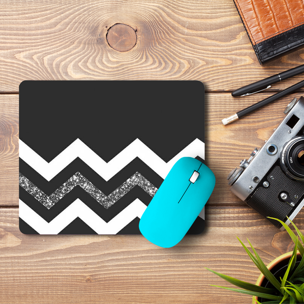 Monochrome Chevron  Mouse Pad