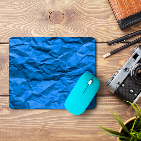 Crumpled Blue  Mouse Pad