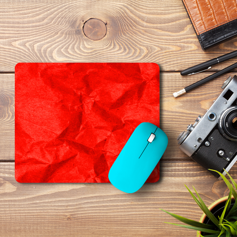 Crumpled Red  Mouse Pad