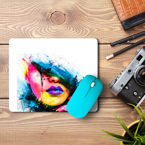 Purple Lips  Mouse Pad