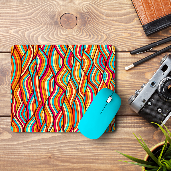 Colorful Wavey  Mouse Pad