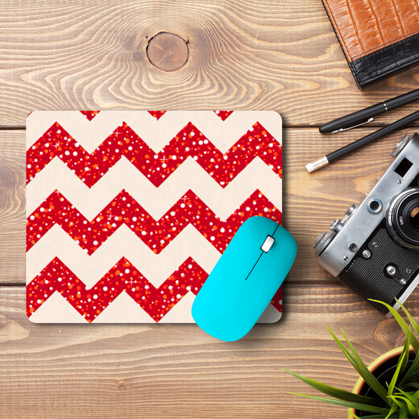 Red Chevron  Mouse Pad
