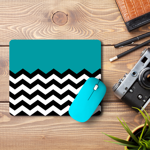 Wavey Chevron  Mouse Pad