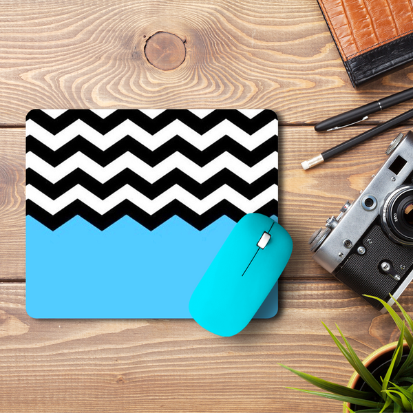 Black & White Chevron  Mouse Pad