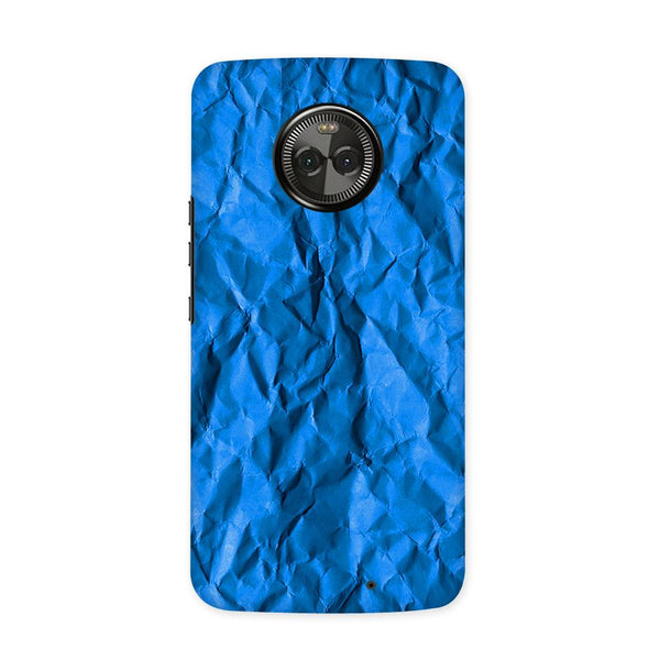 Crumpled Blue Case for Moto X4