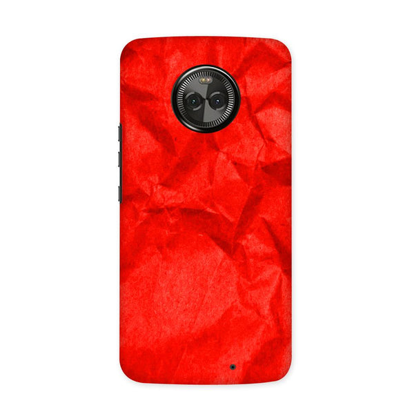 Crumpled Red Case for Moto X4