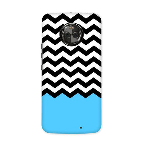 Black & White Chevron Case for Moto X4