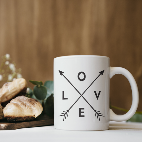 Love Arrows Coffee Mug