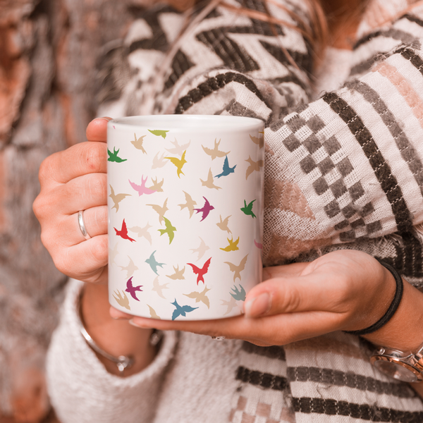 Many Feathers Coffee Mug