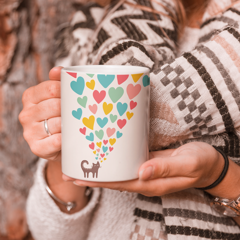Cat In Love Coffee Mug