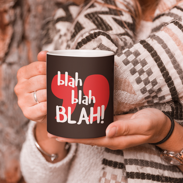 Blah Blah Coffee Mug