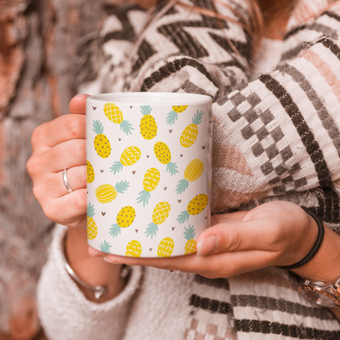 Tropical Pineapples Coffee Mug