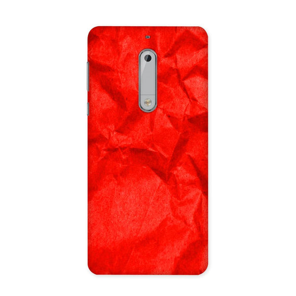 Crumpled Red Case for Nokia 5