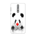 Panda With A Bow Case for Nokia 8
