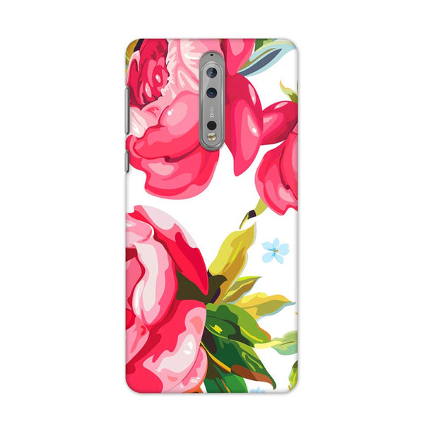 Flower Print Case for Nokia 8