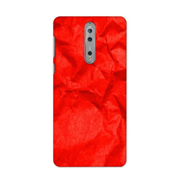 Crumpled Red Case for Nokia 8