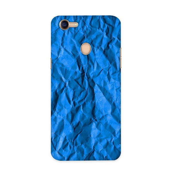 Crumpled Blue Case for Oppo F5