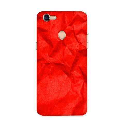 Crumpled Red Case for Oppo F5