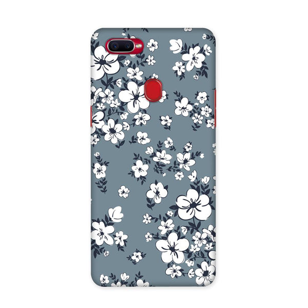 White Flower Case for Oppo F9 Pro