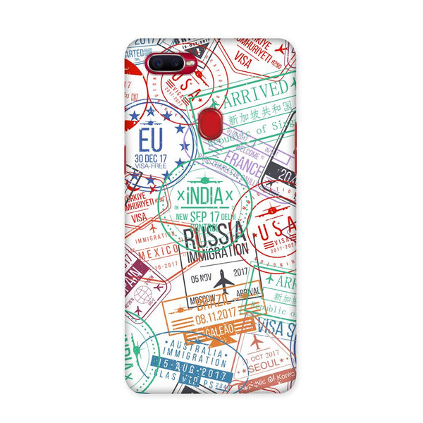 Visa Stamps Case for Oppo F9 Pro