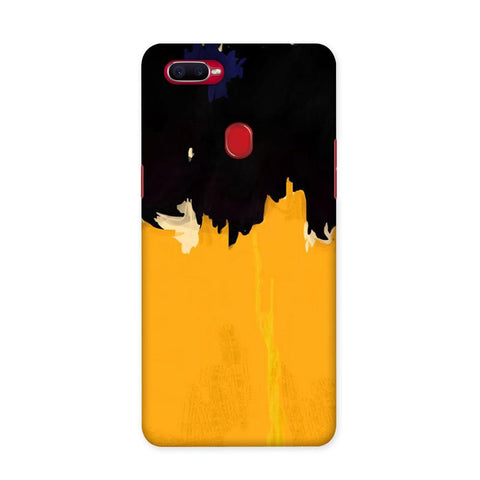 Yellow On Black Case for Oppo F9 Pro