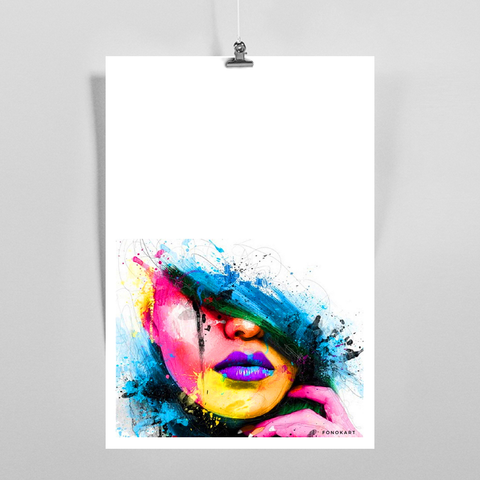 Purple Lips Art Print
