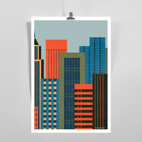 Scrapers Art Print