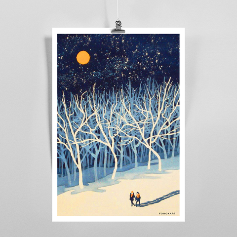 Moon Walk Art Print