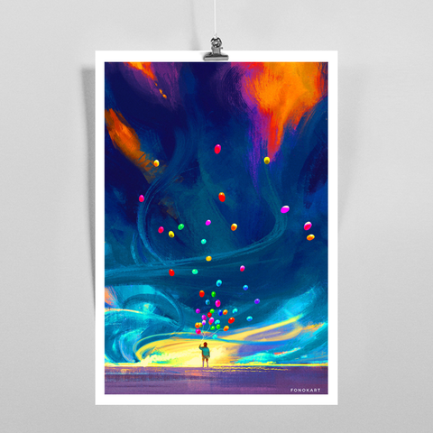 Fly To Art Print