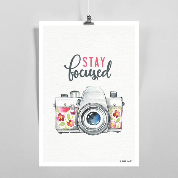 Stary Focused  Art Print
