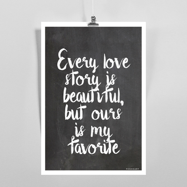 Beautiful Love Story  Art Print