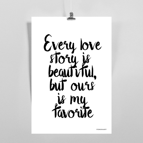 Beautiful Love Story M  Art Print
