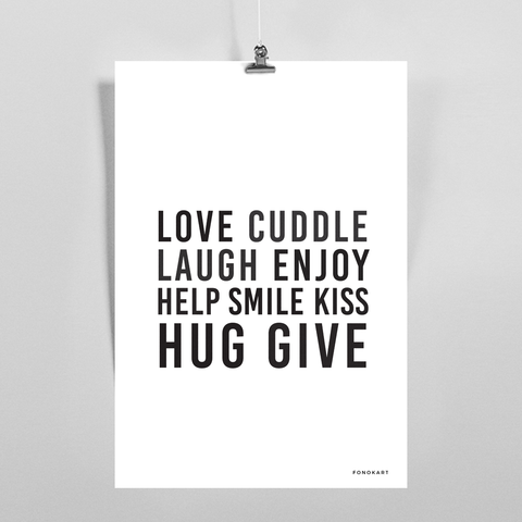 Love Cuddle  Art Print