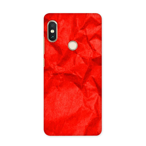 Crumpled Red Case for Redmi 5 Pro