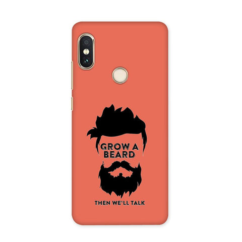 Beard Before Talks Case for Redmi Y1