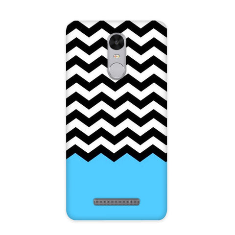 Black & White Chevron Case for Redmi Note 3