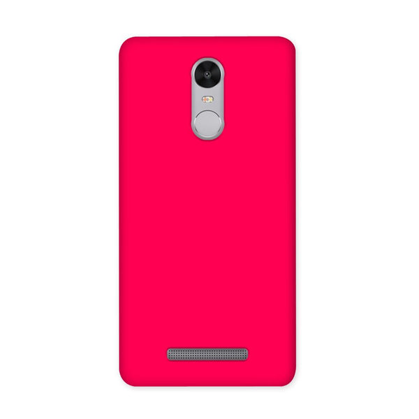 Solid Pink Color Case for Redmi Note 3