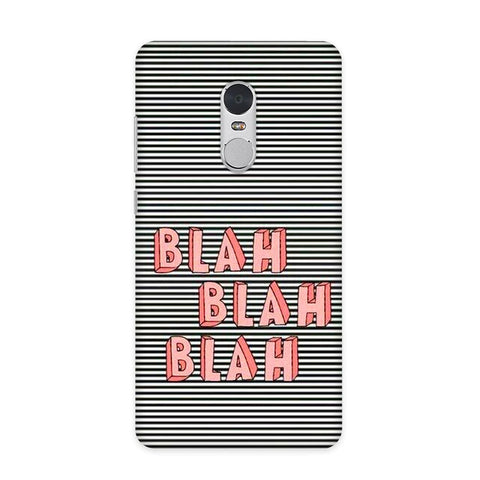 Blah Blah Case for Redmi Note 4
