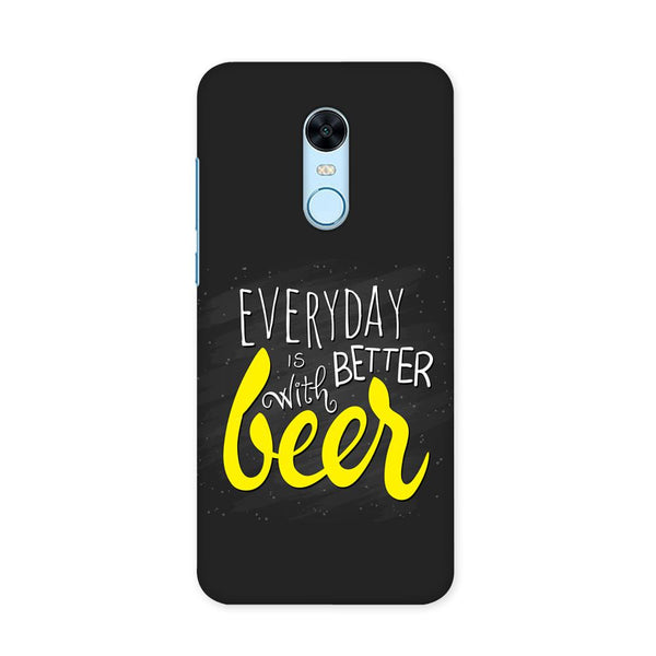 Better Days With Beer Case for Redmi Note 5