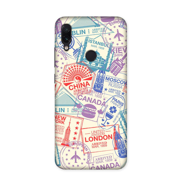 Travel Stamps Case for Redmi Note 7